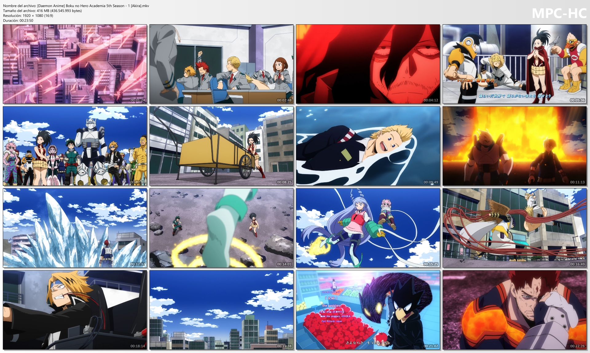 [Daemon Anime] Boku no Hero Academia 5th Season 1 [Akira].mkv thumbs